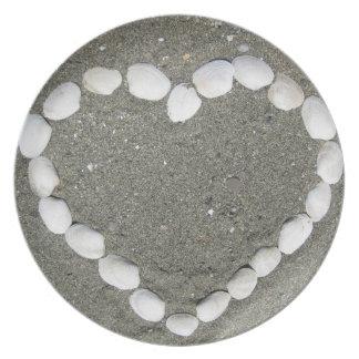 Seashell-Herz Flache Teller