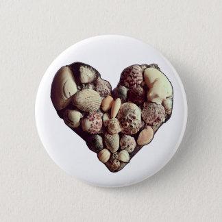 SeaShell-Herz Runder Button 5,7 Cm