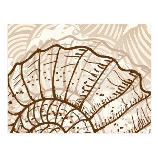 Seashell-Skizze Postkarte