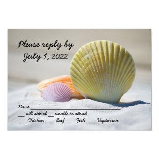 Seashell-Strand-Hochzeit reagieren Karten 8,9 X 12,7 Cm Einladungskarte