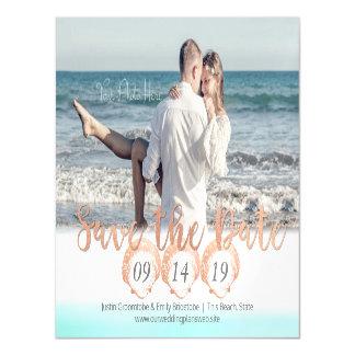 Seashell-Strand magnetisch Save the Date Magnetische Karte