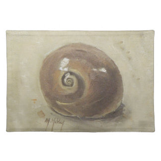 Seashell-Strand Moonshell Schnecke-Muschel Stofftischset