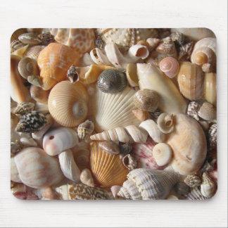 Seashell-Vielzahl-tropische Mäusematte Mousepad