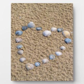 Seashellherz Fotoplatte