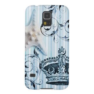 Seashellkrone Starfish blaue Streifen der Marine Samsung Galaxy S5 Hülle