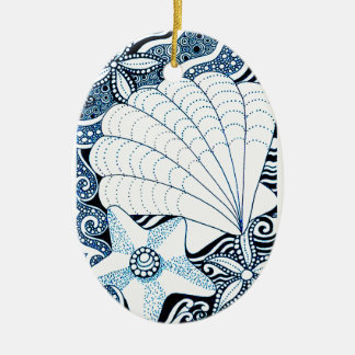 Seashells Keramik Ornament