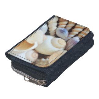 Seashells Sammlung, Denimgeldbörse, Sommer