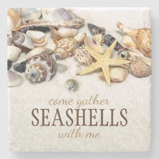 Seashells Steinuntersetzer
