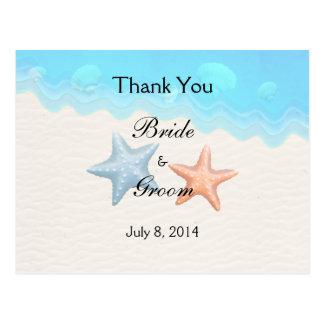 Seashells-Strand danken Ihnen Postkarte