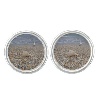Seashells und Seemöven Manschetten Knöpfe