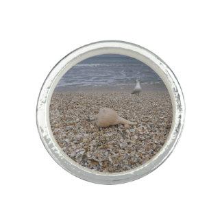 Seashells und Seemöven Ring