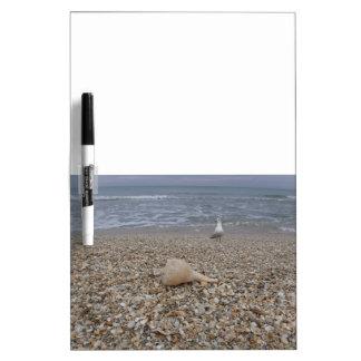 Seashells und Seemöven Trockenlöschtafel