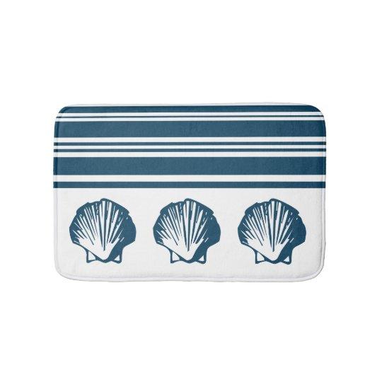 Seashells und Streifen Badematten