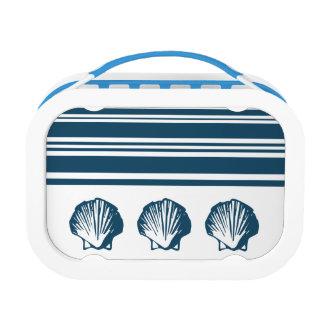 Seashells und Streifen Brotdose