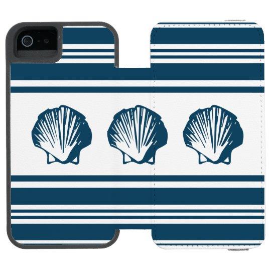Seashells und Streifen Incipio Watson™ iPhone 5 Geldbörsen Hülle