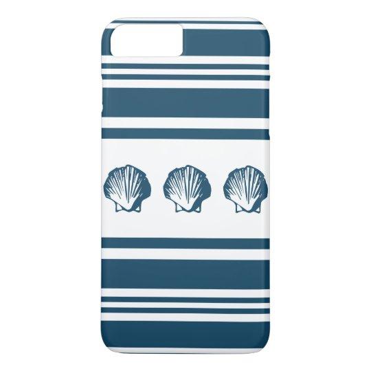 Seashells und Streifen iPhone 7 Plus Hülle