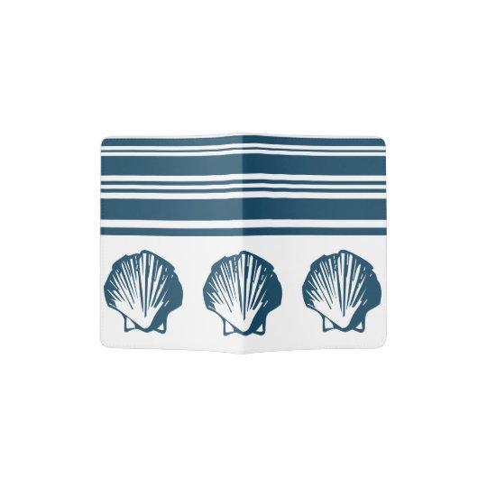 Seashells und Streifen Passhülle