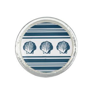 Seashells und Streifen Ring