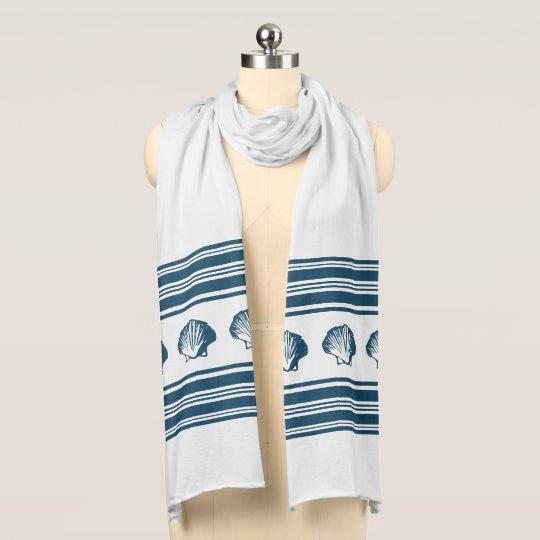 Seashells und Streifen Schal