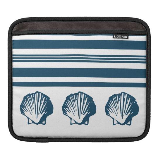 Seashells und Streifen Sleeve Für iPads