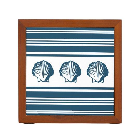 Seashells und Streifen Stifthalter
