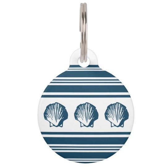 Seashells und Streifen Tiermarken