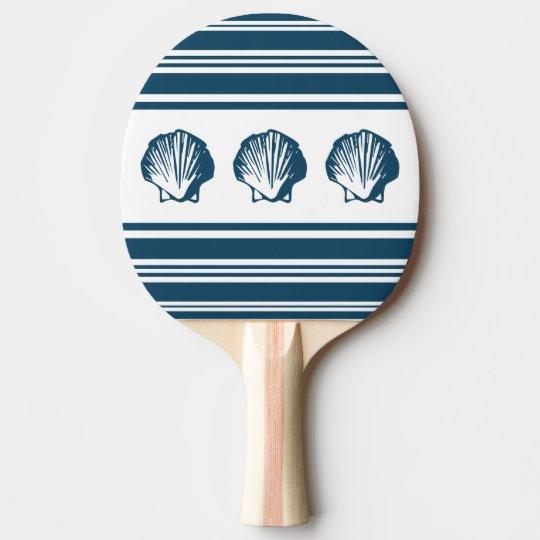 Seashells und Streifen Tischtennis Schläger