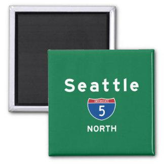 Seattle 5 quadratischer magnet