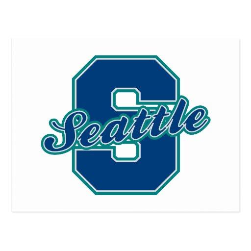 Seattle-Buchstabe Postkarte