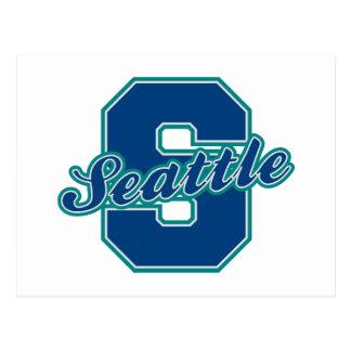Seattle-Buchstabe Postkarten
