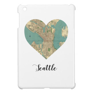 Seattle-Herz-Karte iPad Mini Hülle