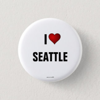Seattle: I Liebe-Seattle pinback Knopf Runder Button 3,2 Cm