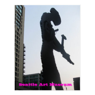 Seattle-Kunst-Museum - Hämmern des Mannes Postkarte