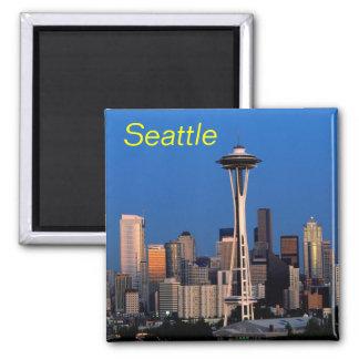 Seattle-Magnet Quadratischer Magnet