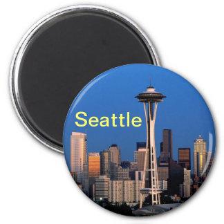 Seattle-Magnet Runder Magnet 5,7 Cm