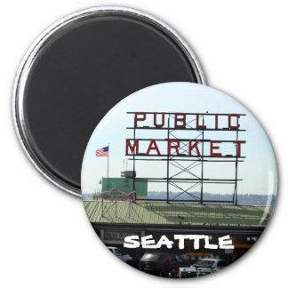 Seattle-Markt-Magnet Kühlschrankmagnet