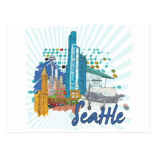 Seattle Postkarte