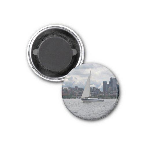 Seattle-Segelboot-Stadtbild-Magnet Magnete