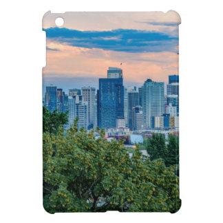 Seattle-Skyline am Sonnenuntergang iPad Mini Hülle