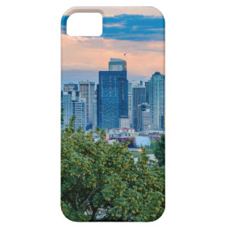 Seattle-Skyline am Sonnenuntergang iPhone 5 Hülle