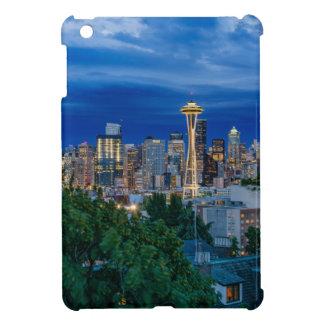 Seattle-Skyline an der Dämmerung iPad Mini Hülle