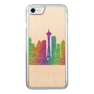 Seattle-Skyline Carved iPhone 8/7 Hülle