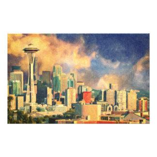 Seattle-Skyline Fotodruck