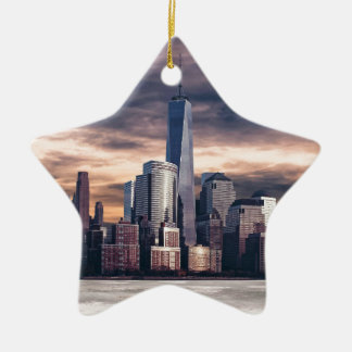 Seattle-Skyline Keramik Ornament