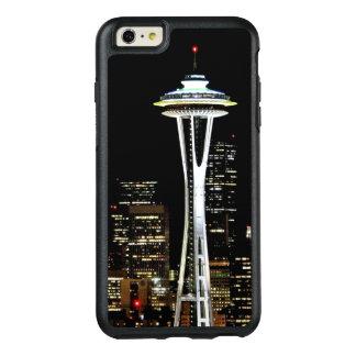 Seattle-Skyline nachts, mit Raum-Nadel OtterBox iPhone 6/6s Plus Hülle