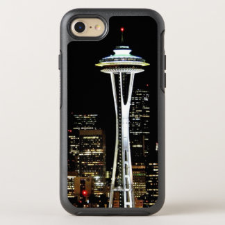 Seattle-Skyline nachts, mit Raum-Nadel OtterBox Symmetry iPhone 8/7 Hülle