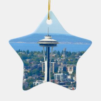 Seattle-Skyline-Raum-Nadel Keramik Ornament