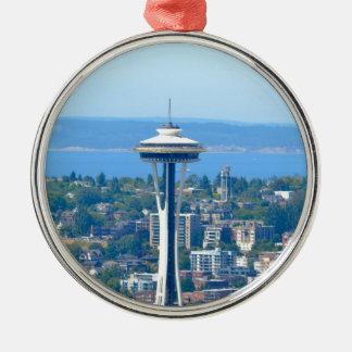 Seattle-Skyline-Raum-Nadel Silbernes Ornament