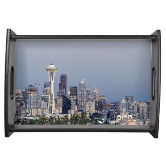 Seattle-Stadtbild Tablett