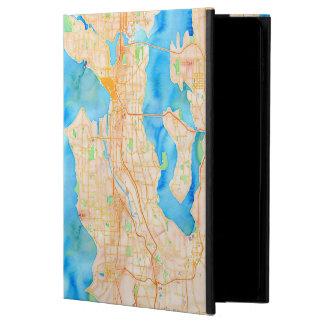 Seattle und Puget Sound-Aquarell-Karte
